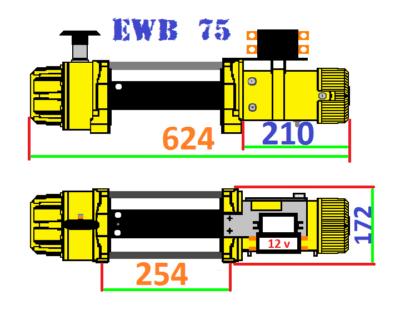 Лебедка GOLDEN POWER EWB 75 чертеж